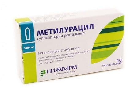 Упаковка средства Метилурацил