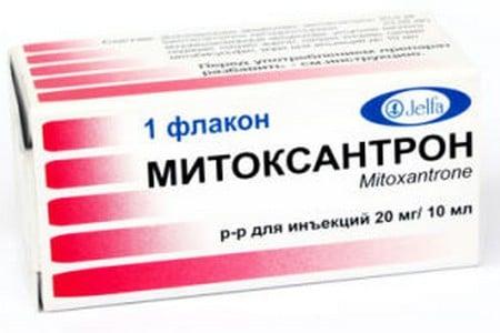 Упаковка средства митоксантрон