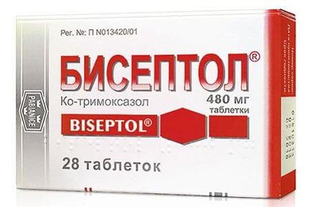Способ применения и дозировка препарата Бисептол от простатита