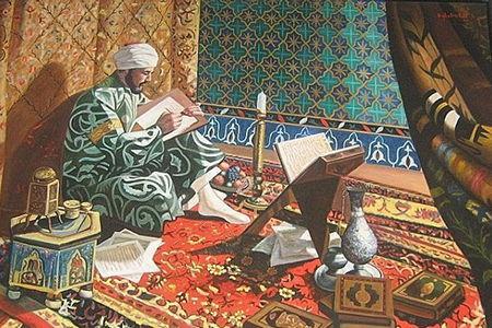 мужчина читает сунны