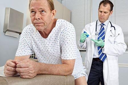 пациенту будут делать массаж простаты