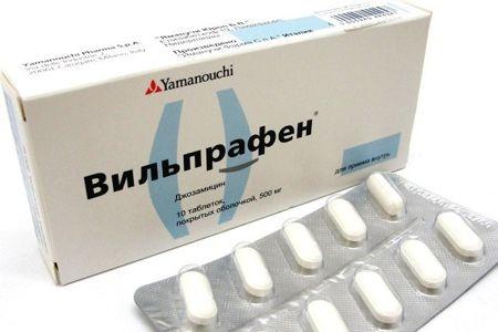 Упаковка Вильпрафена